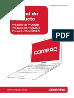 Manual Presario 21-N001AR 21-N003AR 21-N005AR