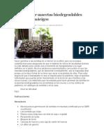 Cómo hacer macetas biodegradables para los almácigos