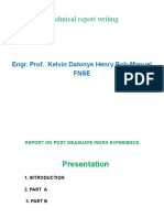 Technical Report Writing -FOR NSE  -P H. Revised