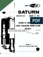 Saturn 1B Launch Vehicle Flight Evaluation Report SA-208 Skylab-4