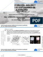 Tema 10. interaccion tabique de albañileria - Estructura aporticada
