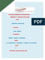 LA  ESTRUTURA   MATERIAL  Y FORMAL DEL  ESTADO.docx