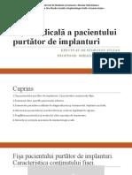 Fişa medicală a pacientului purtător de implanturi.pptx