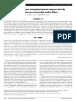 (Paper) Feeding altrenogest during late lactation improves fertility of primiparous sows nursing smaller litters_2019年