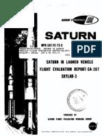 Saturn 1B Launch Vehicle Flight Evaluation Report-SA-207 Skylab-3