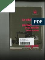 LA EDUCACIÓN EN EL PENSAMIENTO Y LA ACCIÓN. TEORÍA Y PRAXIS (Libro por correo).pdf