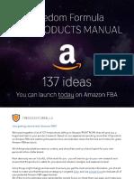 Amazon FBA 137 Hot Product Opportunities Freedom Formula