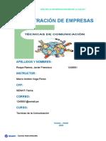 TAREA 1 TÉCNICAS DE LA COMUNICACIÓN