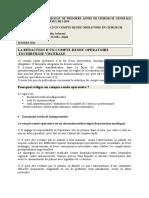 Conférence  10 Mars 2014 Rédaction d'un compte rendu opératoire en chirurgie résidanat 1ère année 2013-2014