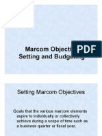 IMC Objective Setting and Budgeting