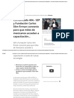Comunicado 404.- SEP y Fundación Carlos Slim firman convenio para que miles de mexicanos accedan a capacitación... _ Secretaría de Educación Pública _ Gobierno _ gob.mx
