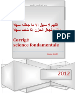 crrigé science fondamentale 2012