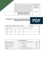 INSTRUCTIVO PARA EL MANEJO SEGURO DE HERRAMIENTAS)