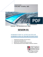 MANUAL DE AUTOCAD CIVIL 3D 2019- SESIÓN 01