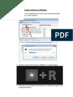 Formas de abrir archivos en Windows
