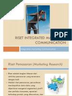 Riset Integrated Marketing Communication