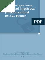 Rodriguez Barraza, Adriana. Identidad Lingüística y Nación Cultural en J. G. Herder. 2014