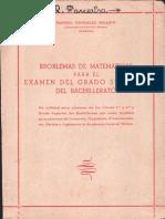 Problemas de matematicas examen grado superior del bachillerato-Manuel Gonzalez