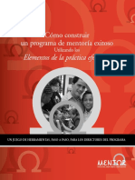 Articulo Elements of Effective Practice for Mentoring Tool Kit (Spanish)
