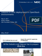 Lessons in IPv6 deployment in OpenStack environments