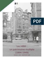Les HBM, un patrimoine multiple (1894-1949)