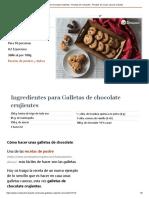 Galletas de chocolate crujientes - Recetas de rechupete - Recetas de cocina caseras y fáciles