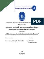 TEMA 3.MATERIALE CU FUNCTII ACUSTICE IN CONSTRUCTIA AUTOVEHICULELOR
