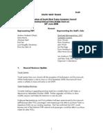 Retail Company Company Council Minutes June 2008