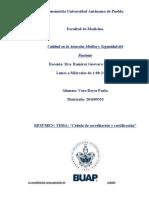 Cédula de acreditación y Certificación