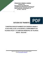 Estudio de Transito Pav Talaigua Nuevo - Talaigua Viejo