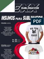 Insumos sublimar catalog