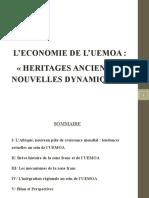 L'ECONOMIE DE L'UEMOA- HERITAGES ANCIENS ET NOUVELLES DYNAMIQUES Juillet 2014