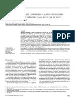 Razão cintura-estatura (RCEst) com os demais indicadores antropométricos