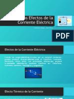 Los Efectos de la Corriente Eléctrica