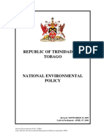 National Environmental Policy 2006 - Trinidad and Tobago