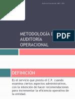 METODOLOGÍA DE LA AUDITORÍA OPERACIONAL