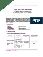 Guía de Producto Académico Final_Redacción de un ensayo sobre la internacionalización de una empresa