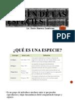 ORIGEN DE LAS ESPECIES (1)