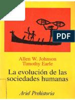La evolucion de las sociedades humanas - Allen W. Johnson