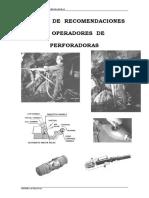 MANUAL DE  RECOMENDACIONES  A  OPERADORES  DE PERFORADORAS CANUN