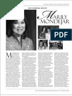 Marily Mondejar, Hermana Mayor, Pistahan 2009