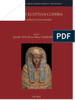 Ancient Egyptian Cioffins. Craft traditions and funcionality