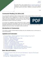 Communist Reading List (Ultra-Left)