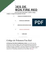 FRAUDES DE POKEMON FIRE RED
