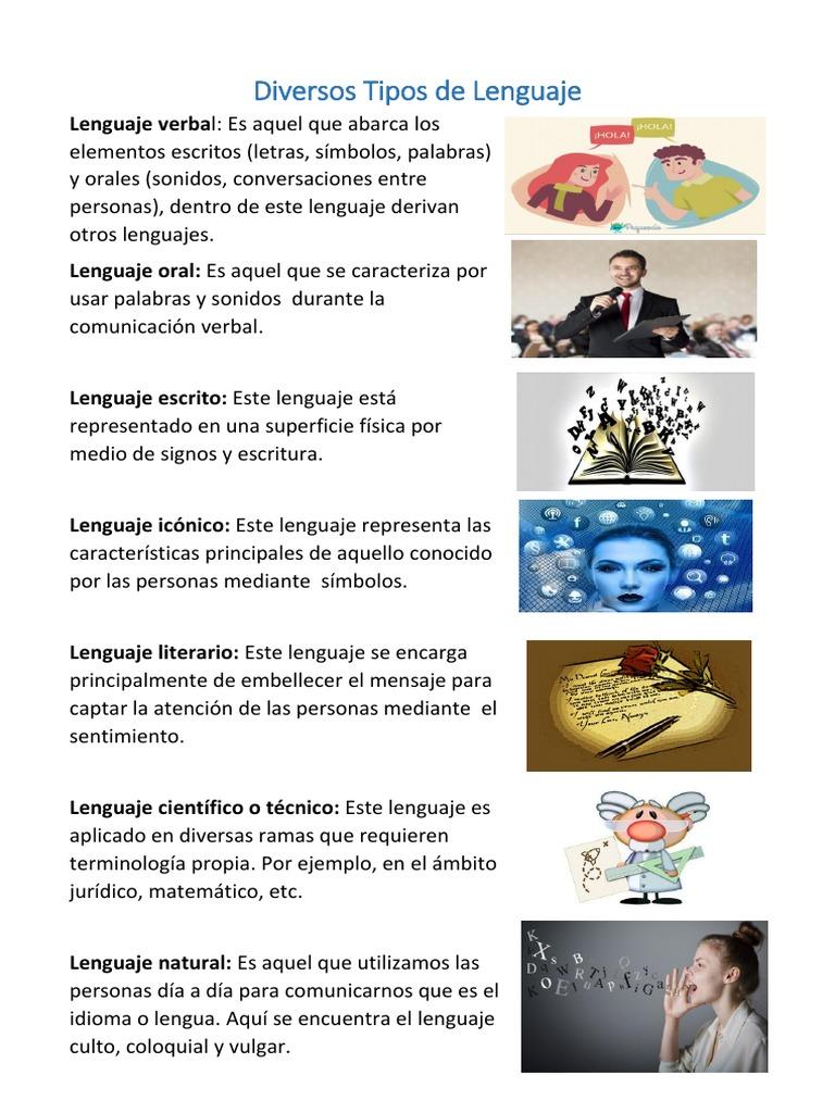 Diversos Tipos De Lenguaje Comunicación No Verbal Cibernética