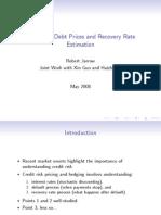 Distressed Debt Valuation