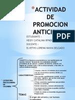 ACTIVIDAD DE PROMOCION ANTICIPADA