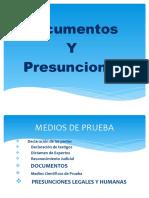 DOCUMETNOS Y PRESUNCIONES M