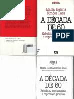 A Década de 60 - Maria Helena Simões Paes