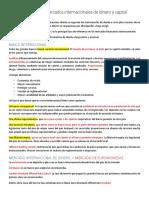 CAPITULO 6 Mercados internacionales de dinero y capital RESUMEN